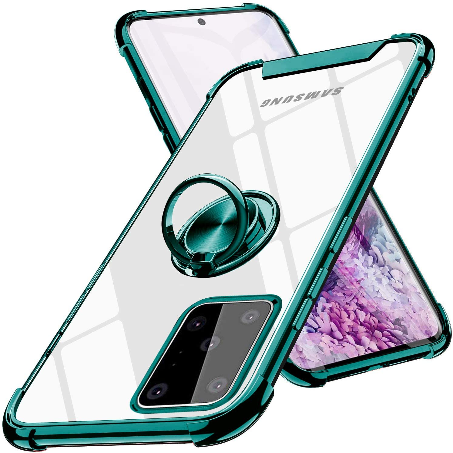 LIGOWII Samsung Galaxy S20 Ultra Case Clear with Design Transparent 6.7