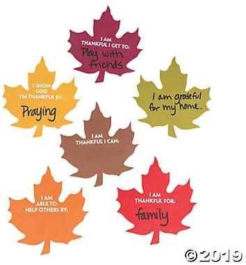 Fun Express Thanksgiving Inspirational Gratitude Notes (Bulk Set of 48)