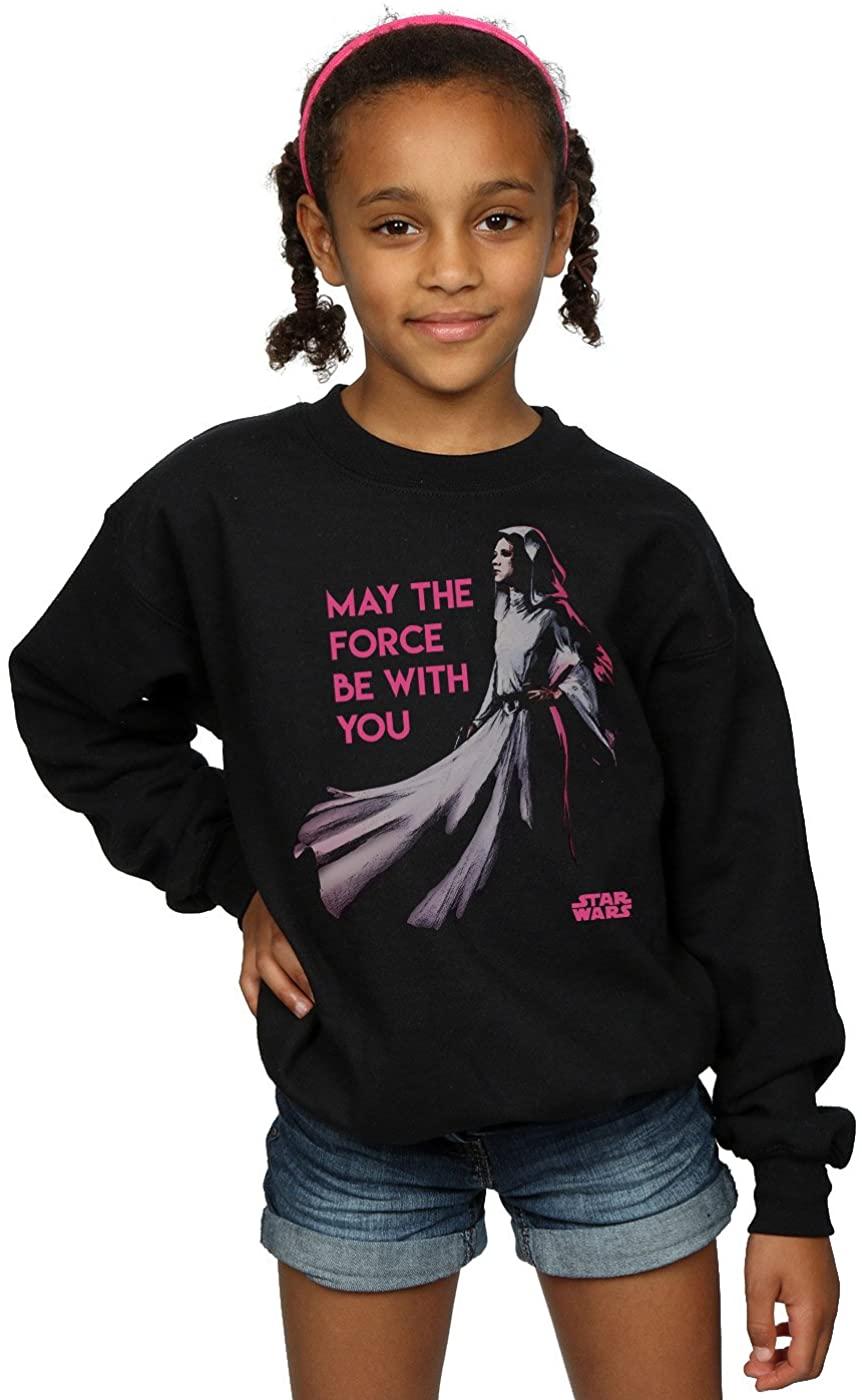 Star Wars Girls Princess Leia Force Sweatshirt 7-8 Years Black