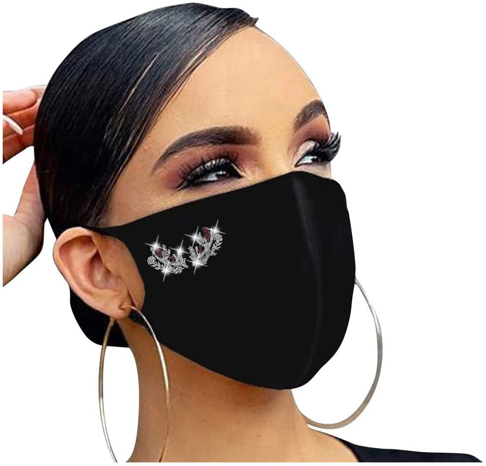 AIHOU Face Masks Reusable Washable Cloth Face Mask Unisex Comfortable Breathable Cotton Fabric Mouth Cover Masks Fashion Christmas Decorations Party mask