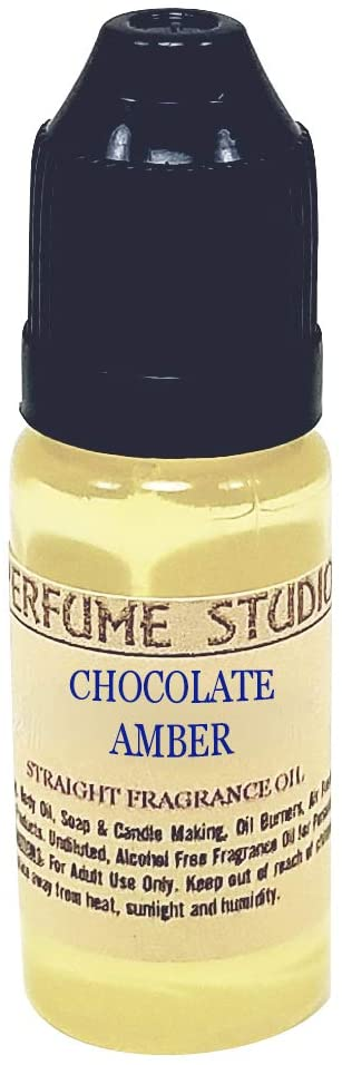 Perfume Studio Amber Chocolate Fragrance Oil for Soap Making, Candle Making, Perfume Making, Oil Burners, Air Fresheners, Body Mists, Incense, Skincare Products. Pure Parfum; 12ml (Chocolate Amber)