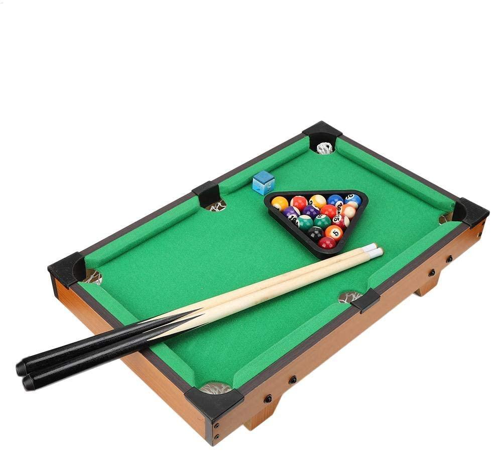 Tabletop Billiards, Compact Enjoy Fun Anytime Desktop Billiards Game, Kindergarten Birthday Gifts for Children Parties(Wood Color)
