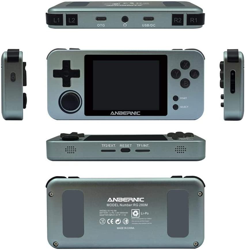 ZABB Handheld Game Console for Kids Portable Retro Video Game Player ,RG280M Handheld Game Console Retro Game Player, with Preload 10000 Games ,Birthday Gift for Children
