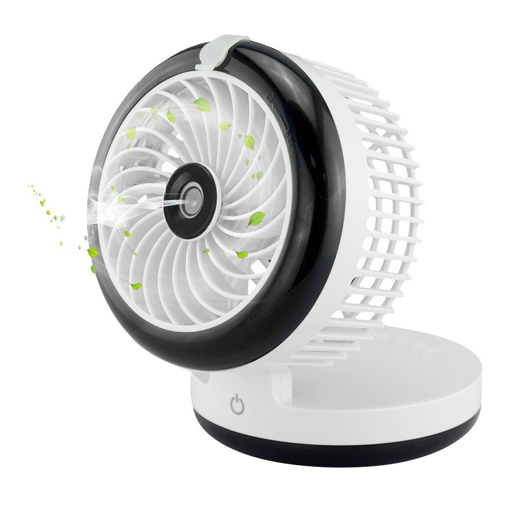 Portable Mini USB Misting Fan Spray Humidification Fan for Personal Cooling,Desk Mist Humidifier Fan Rechargeable Power Bank Fan for Homeuse,Traveling
