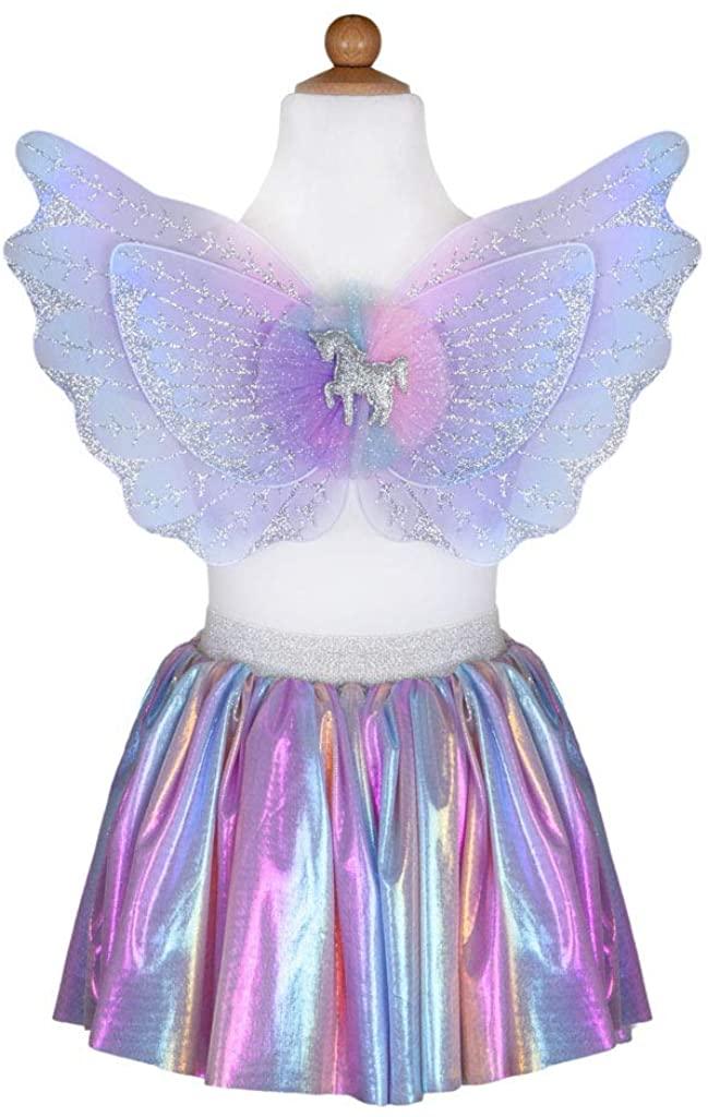 Great Pretenders 42115, Magical Unicorn Skirt & Wings, Pastel, US Size 4-6