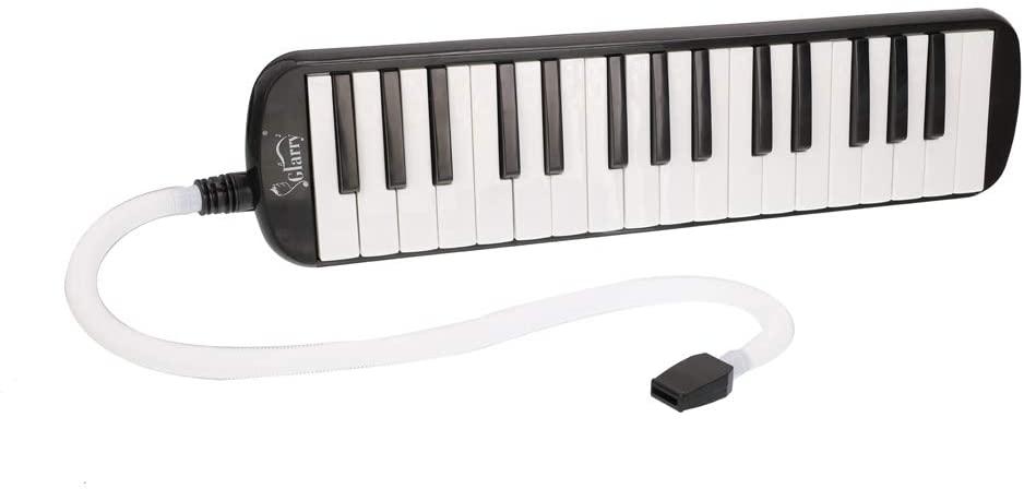 32-Key Melodica Musical Instrument Set with Mouthpiece & Hose & Bag Black