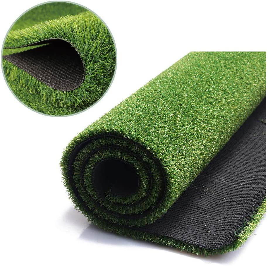 FANSRON Artificial Grass Turf 3.3FT X 5FT(16.5 Square FT), for Iindoor Outdoor Landscape, Balcony, Door Mat, Floor MatCarpet,Patios, and Dogs Training Pads Potty ,Easy to Clean with Drainage Holes