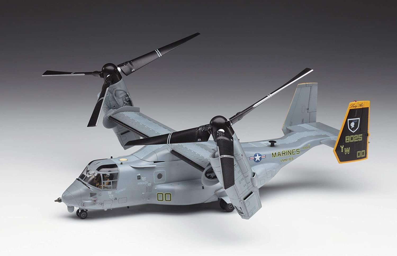 Hasegawa 1/72 Sclae MV-22B Osprey, E Series USMC Tilt Rotor Transport Plastic Model Kit # 01571