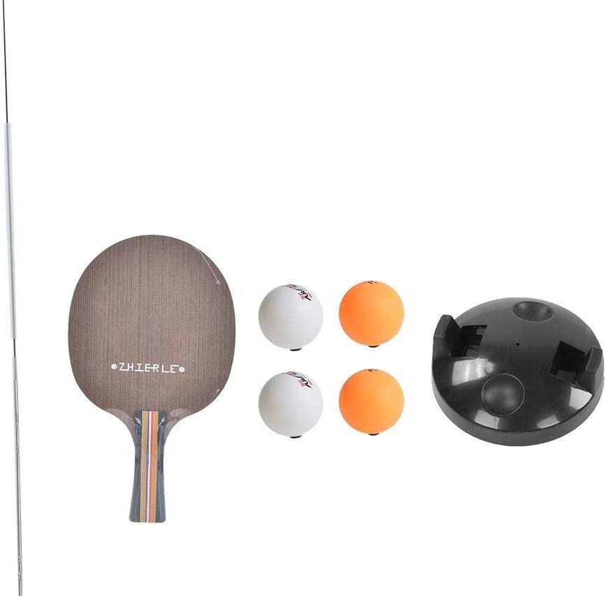 Conlense Elastic Soft Shaft with Ping Pong Balls Rackets Set Table Tennis Trainer for Children Adult