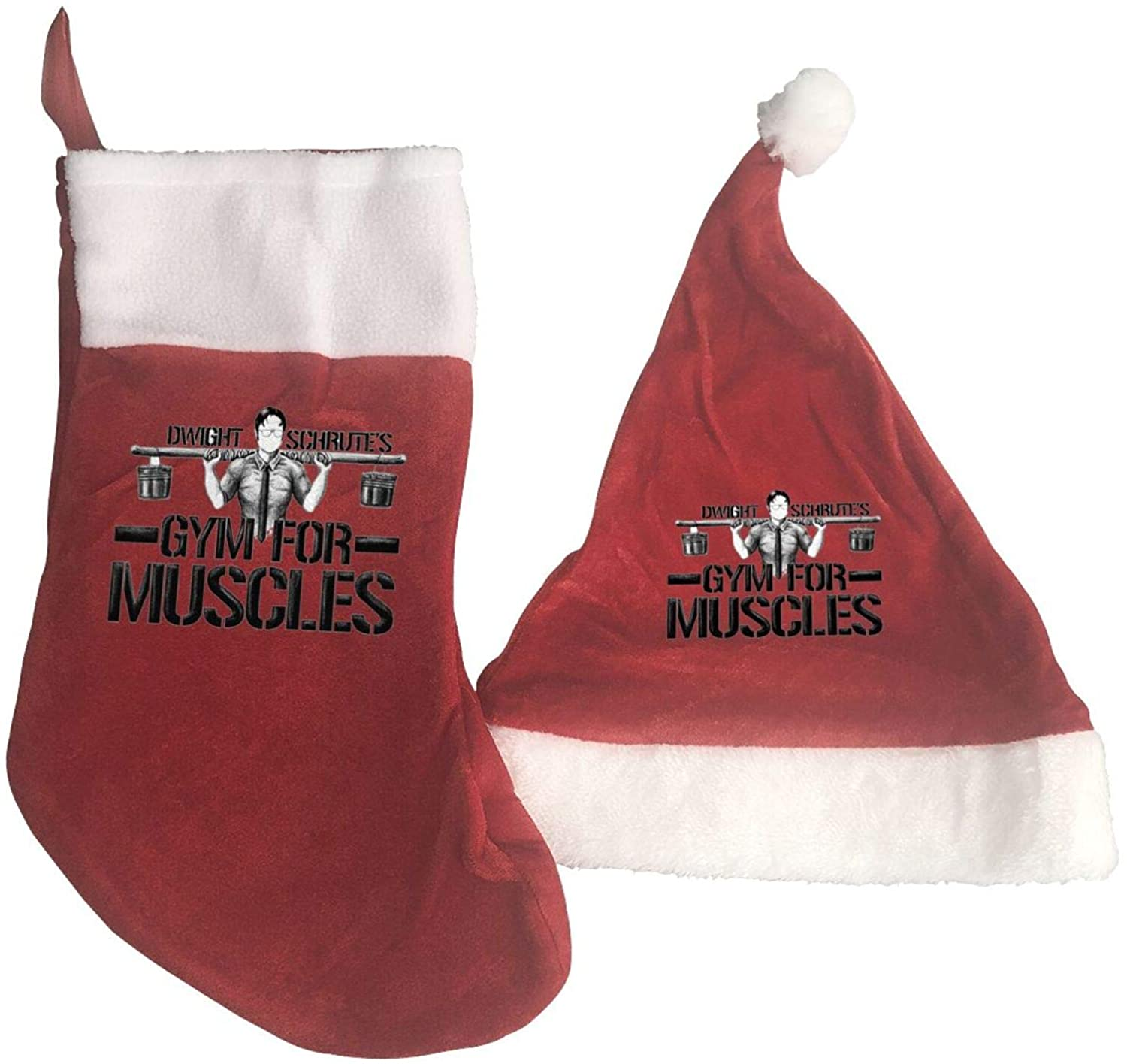 Dwight Schrute Gym For Muscles Christmas Hat Christmas Stocking Ornaments And Family Holiday