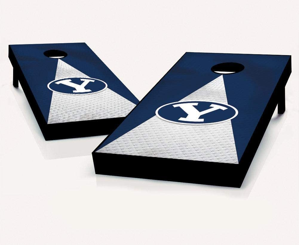 Tailgate Pro's BYU Jersey Cornhole Boards, Choose Your Options - Includes 2 Boards and 8 Team Logo Bags