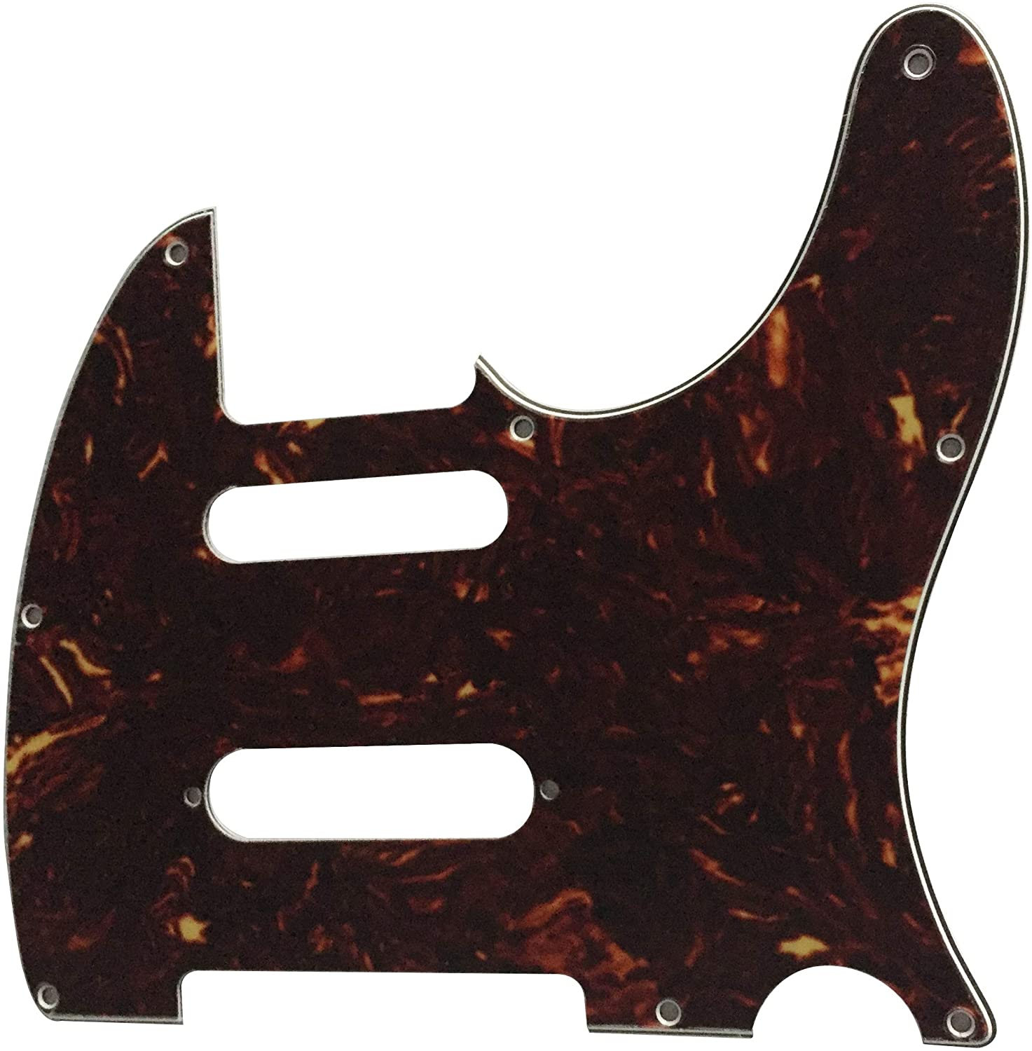 Guitar Pickguard For Fender Telecaster Nashville Tele Style Scratch Plate (4 Ply Brown Tortoise)