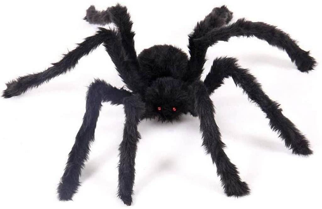 2PCS Spider Plush Ornament for Halloween Party Scary Decoration Toy for Halloween Party, A Horrible Spider for Indoor Outdoor Yard Decor