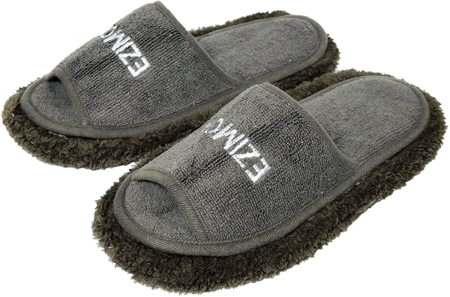 Friendly House Women's Chenille Microfiber Floor Cleaning Mop Slippers (Grey)