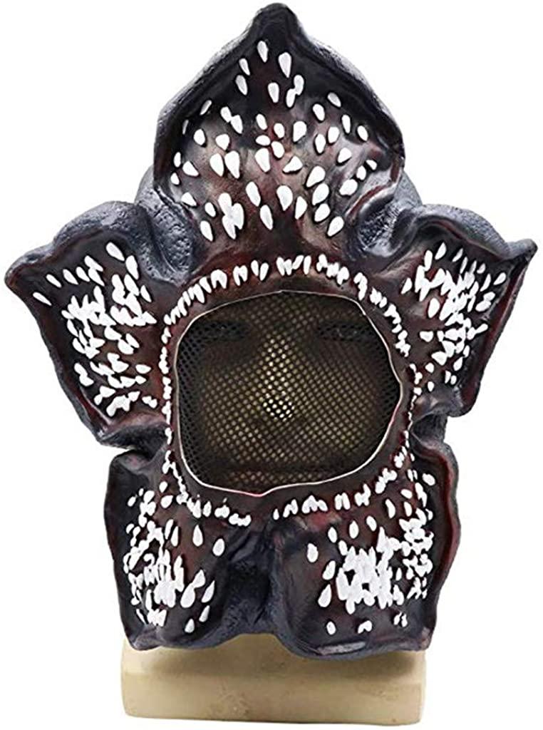 Demogorgon Stranger Things Mask, Scary Latex Full Head Masks Headgear Halloween Cosplay Party Costume Props Black
