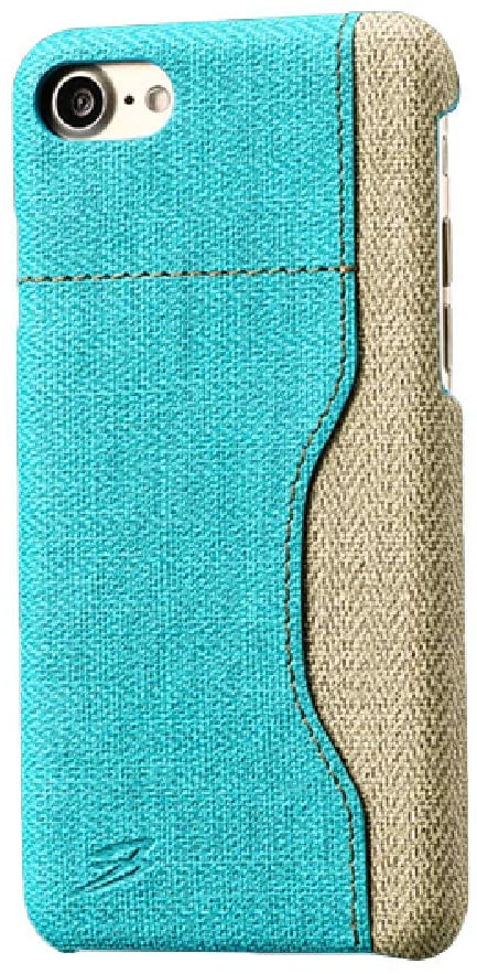 ADRIKO Case for iPhone 7 iPhone 8 Elegant Classy PU Leather Card Slot Luxury Slim Soft Anti-Slip Scratch-Resistant Full Body Protective Cover for iPhone 7/iPhone 8 (Blue)