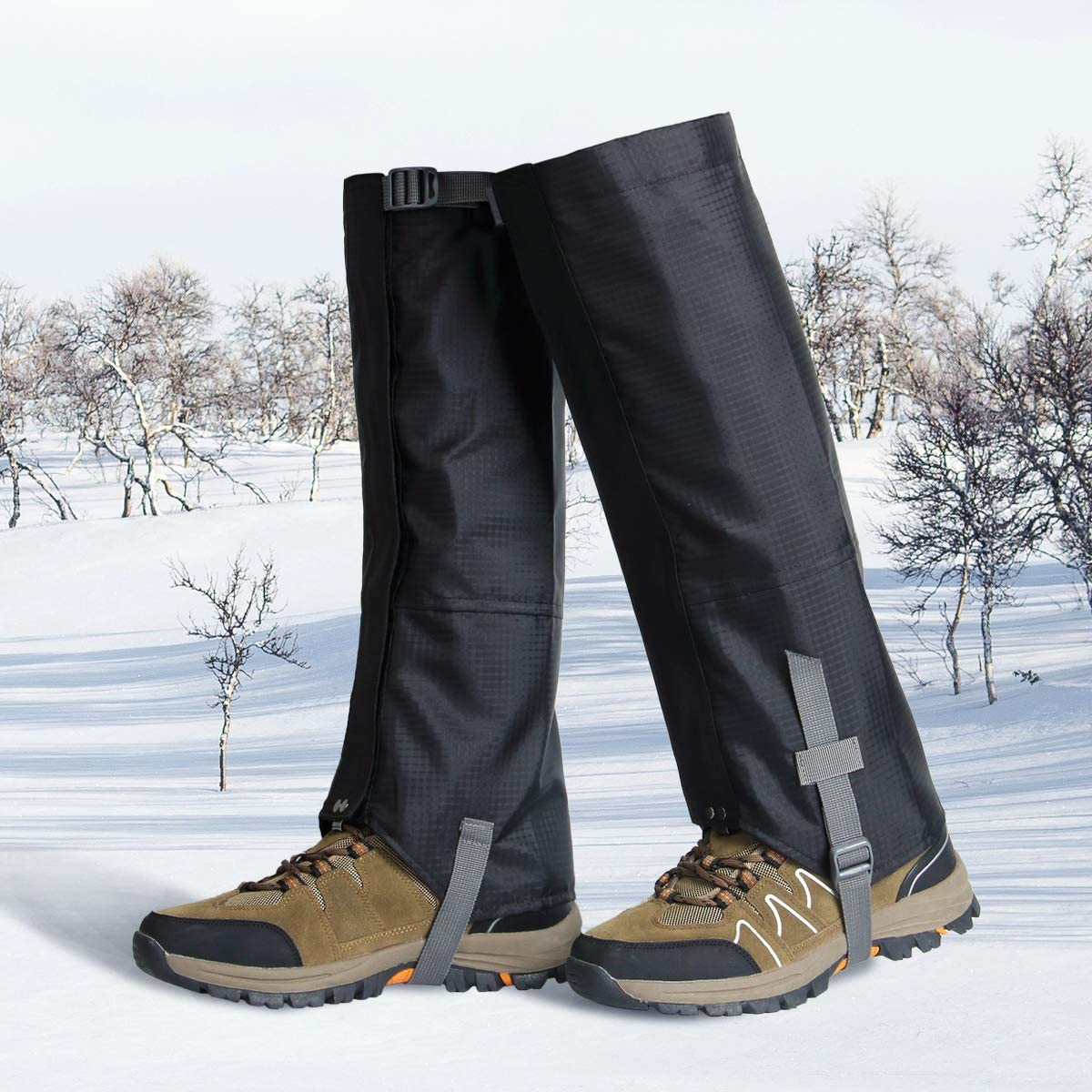Tunity Leg Gaiters Waterproof Snow Gaiter Shoes Gaiters 600D Anti-Tear Oxford Cloth for Outdoor Hiking Walking Climbing Hunting