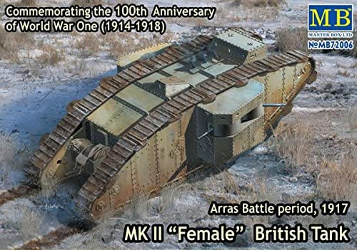Masterbox 1:72 Scale Mk II Female British Tank, Arras Battle Period 1917