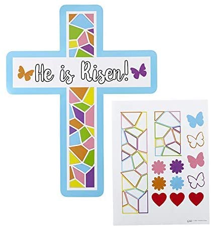 Autom He is Risen Cross Craft Kits - 24/pk