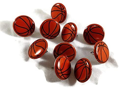 Basketball Brads Paper Fasteners Sports Balls