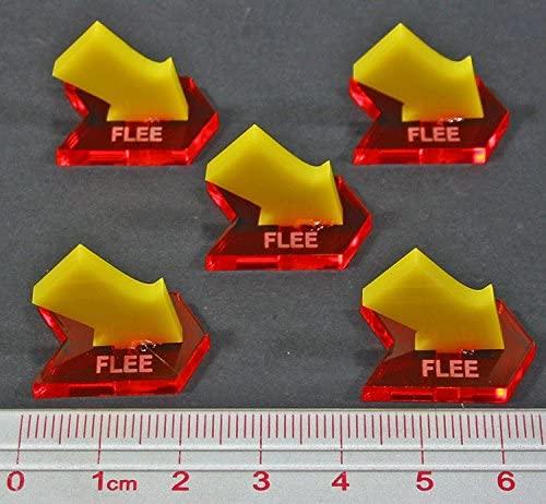 LITKO Fantasy Battle Flee Markers, Fluorescent Amber & Yellow (5)