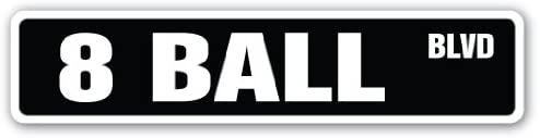 8 Ball Street Sign Billiards Pool cue pooltable Darts | Indoor/Outdoor | 24