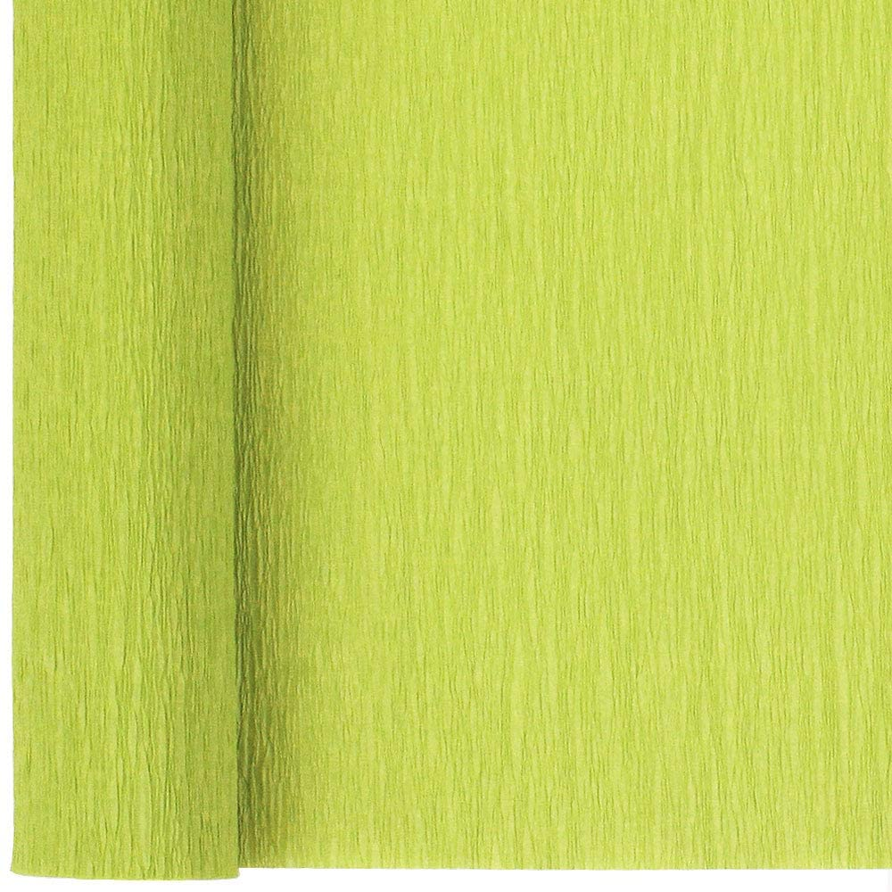 Just Artifacts 90g Premium Crepe Paper Roll, 20in Width, 8ft Length, Color: Key Lime