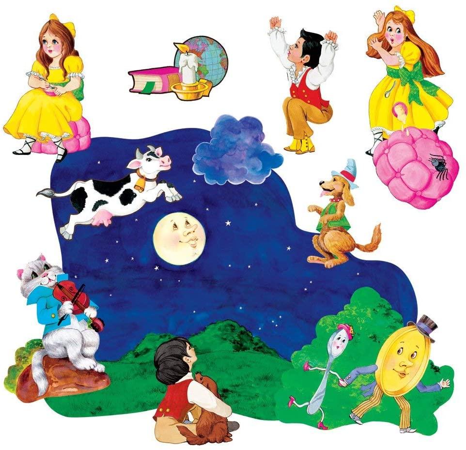 Little Folk Visuals Nursery Rhymes 2 Precut Flannel/Felt Board Figures, 11 Pieces Set