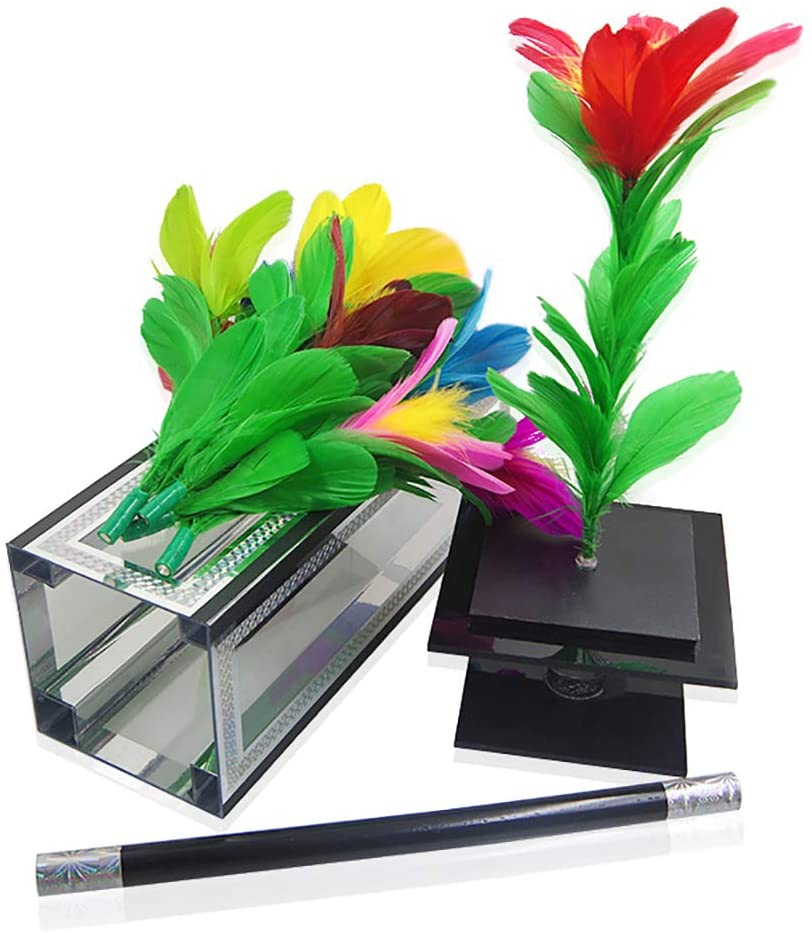 ZQION Enjoyer Crystal Botania Clarity Box to Flower Magic Tricks Magician Props Magic Stage Illusion Appearing Flower Bush