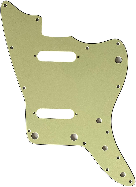 Custom For Fender US Jazzmaster Strat Pickup Electric Guitar Pickguard (3 Ply Vintage Green)