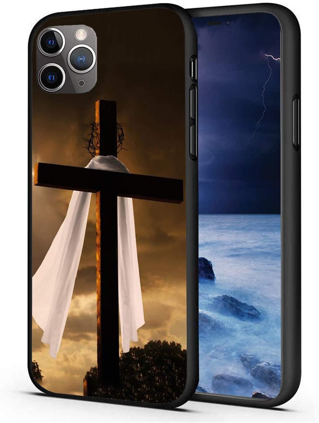 iPhone 11 Pro Max Case, Ultra-Thin Scratch-Resistant TPU Rubber Protective Sleeve, Suitable for iPhone 11 Pro Max 6.5 Inch (2019), Christian Easter Cross