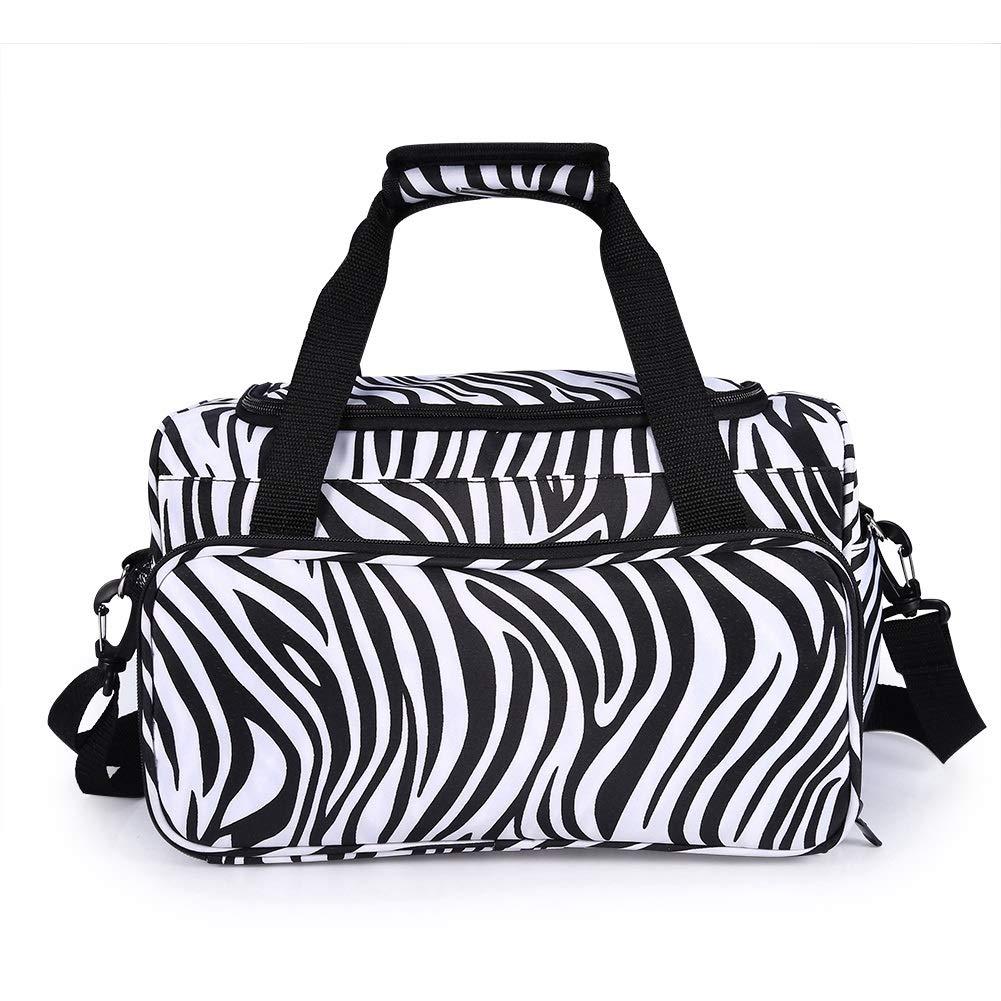 Hairdressing Tools Bag - Zebra Stripe Handbag Hairdressing Tools Bag Portable Scissors Comb Holder Bag Hairstyling Case