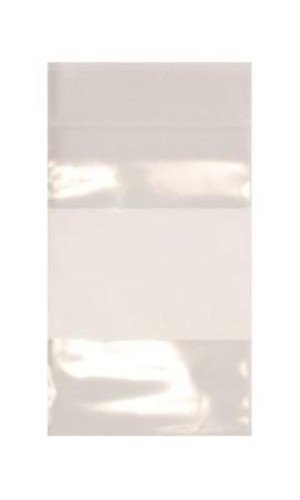 Resealable Plastic Bag in Clear 2 x 3 Inches with White Block - Box of 1000