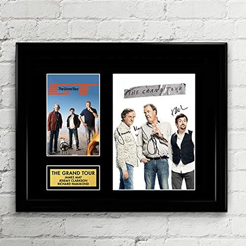 The Grand Tour Clarkson Hammond May Signed Autographed Photo Mat Custom Framed 11 x 14 Replica Reprint Rp