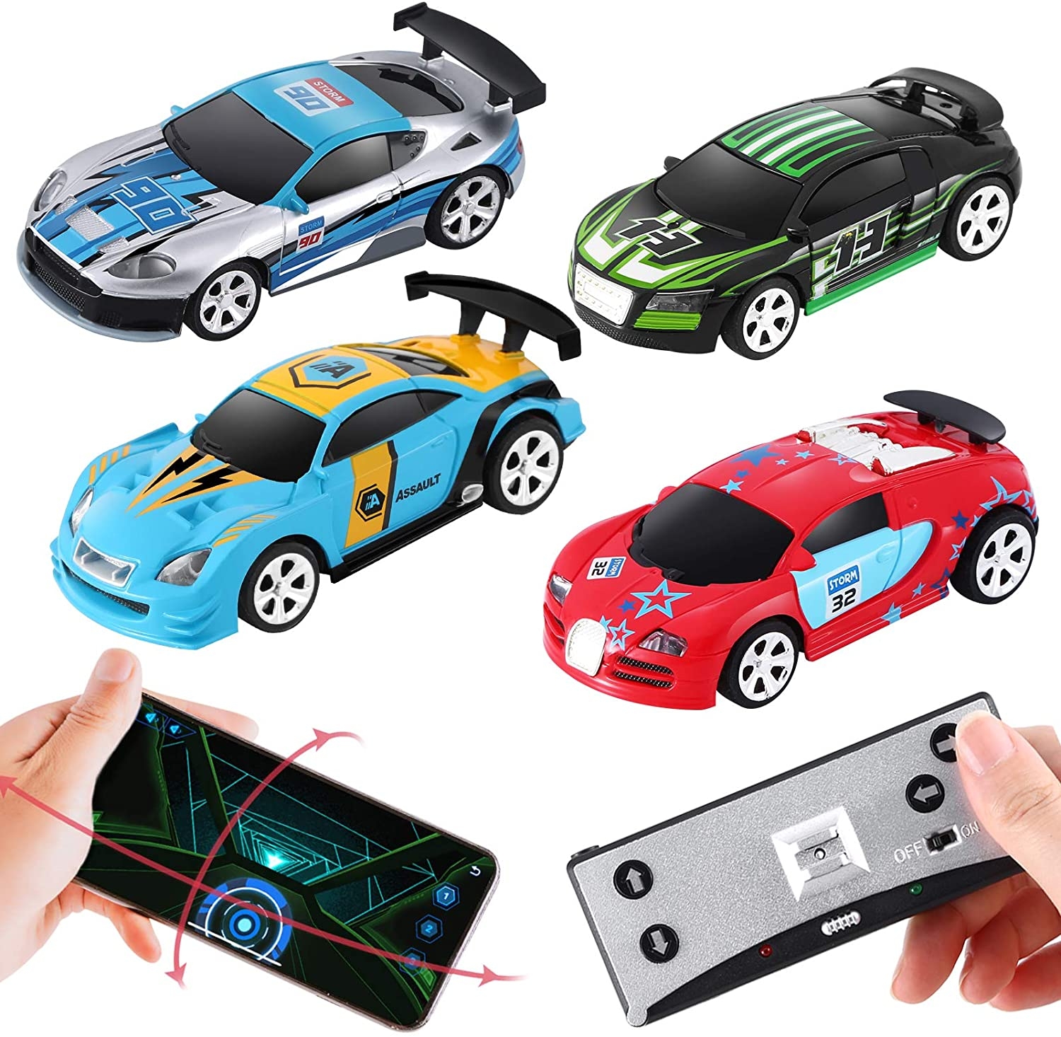 App Remote Control Mini Racing Car for Kid Boy Girl, 2.4 GHZ High Speed RC Car, Kid Toys Gifts (Green)