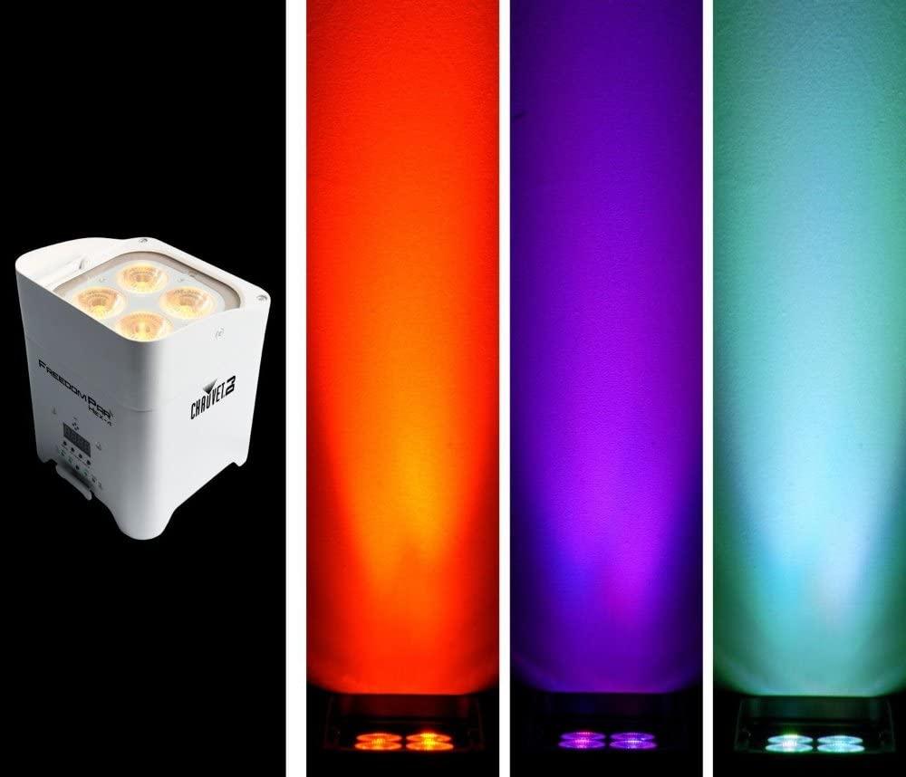 CHAUVET DJ Freedom Par Hex-4 Battery-Powered/Wireless RGBAW+UV LED Par Wash Light - White White