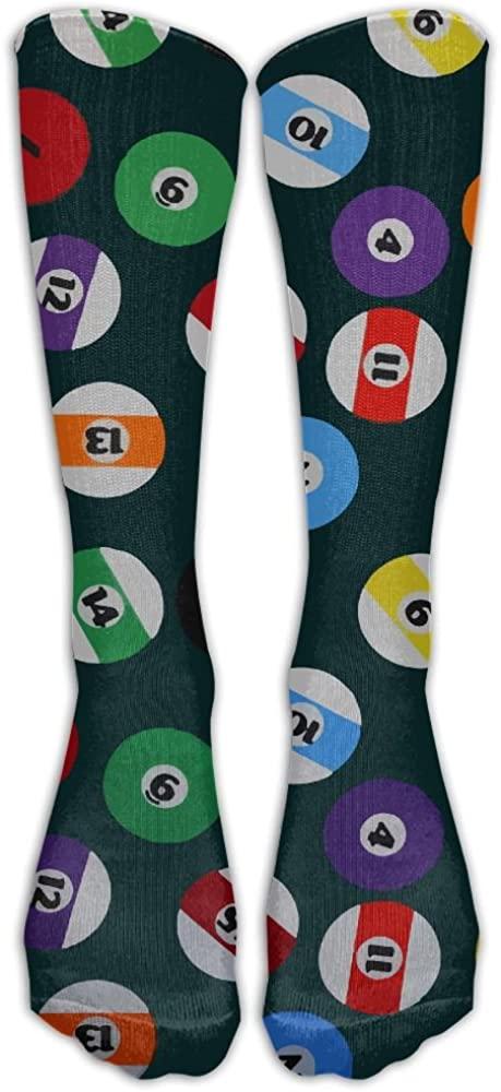 QR FUNK Womens/mens Unisex Billiard Ball Sports/casual Long Socks Stocking
