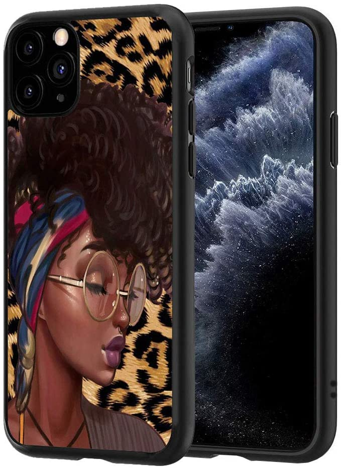 ChaTham iPhone 11 Case, Premium TPU Slim Anti-Scratch Rubber Protective Case Cover for iPhone 11 (2019) 6.1 inch - African Afro Girls