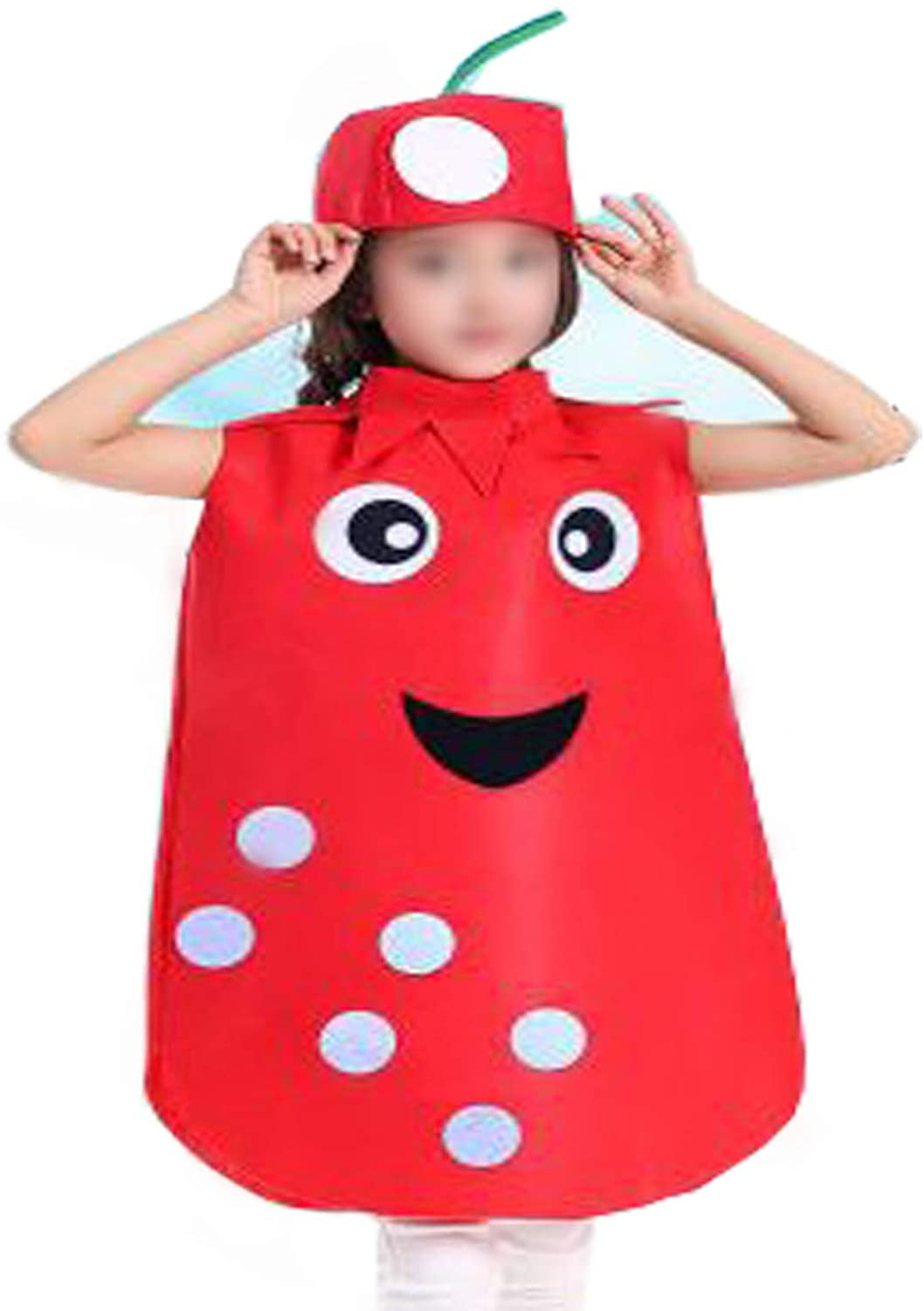 ANDES Child Party Clothing Cute Fruits Costume Suit for Christmas Holidy (Pomegranate)