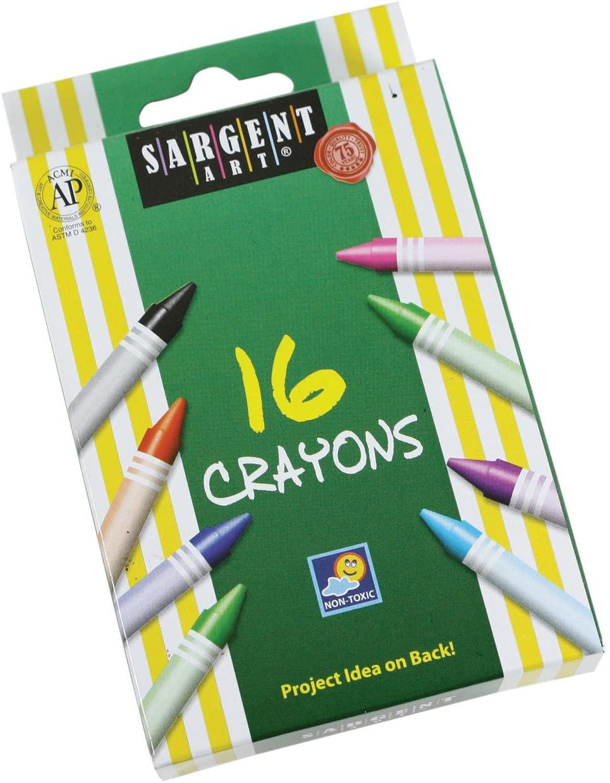 Sargent Art 35-0533 16-Count Regular Crayon, Peggable
