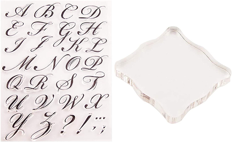 Fainosmny Plexiglass Transparent Stamp Rubber Stamp Alphabet Cake Stamp Tool Christmas Decorations Xmas Gifts