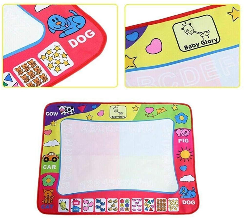 Doodle Mat, Water Painting Draw Writing Mat Magic Doodle Mat Kid Developmental Toy+Magic Pen