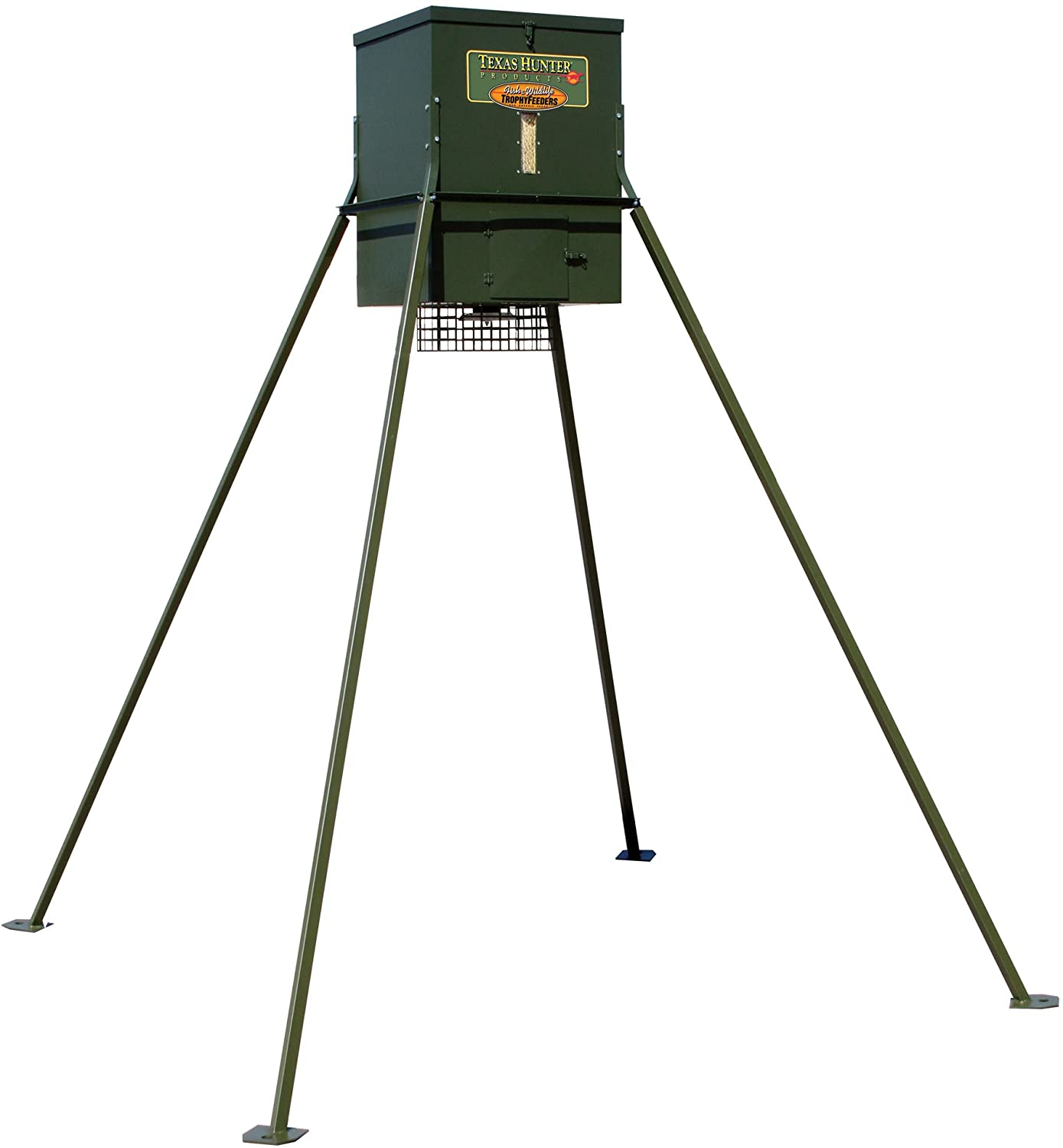 Texas Hunter Products Wildlife & Deer Feeder w/ 8-Foot Heavy-Duty Extension Legs - 300 lb. Corn Capacity - Model TF300L8
