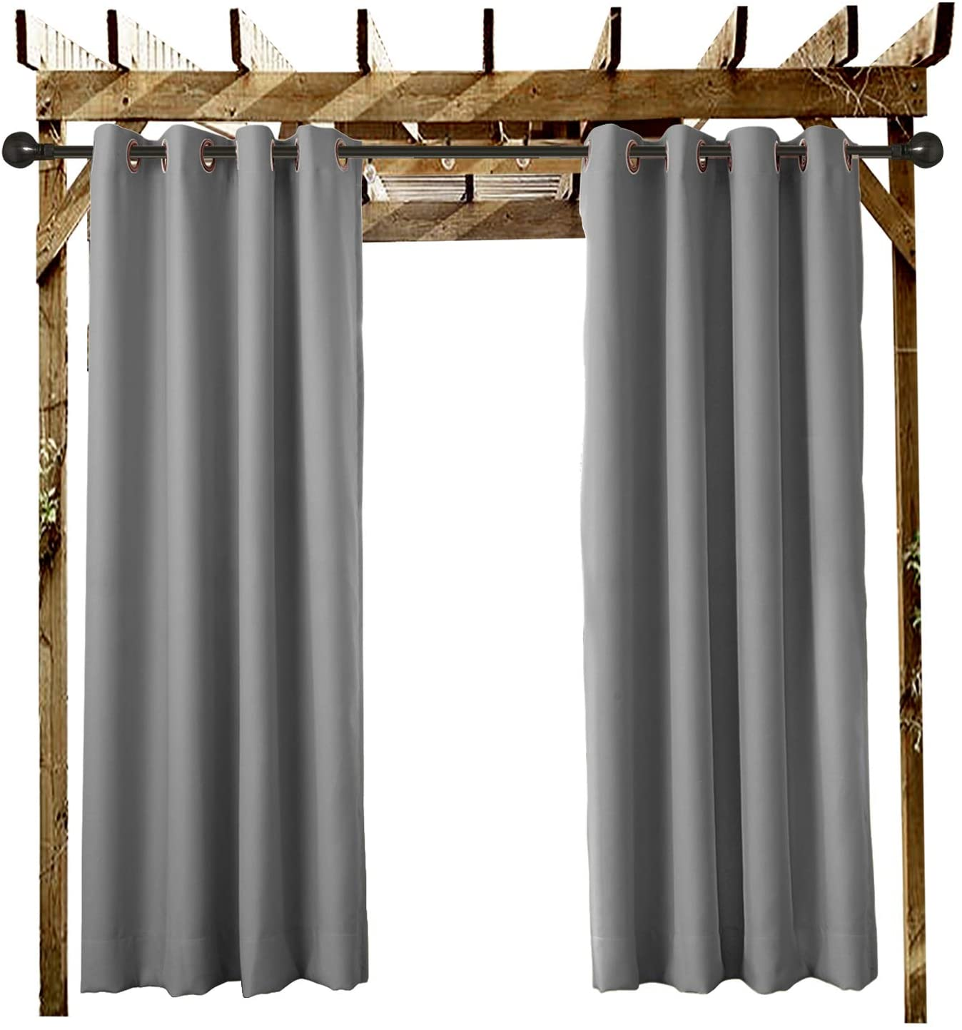 ChadMade Outdoor Curtain Grey 84