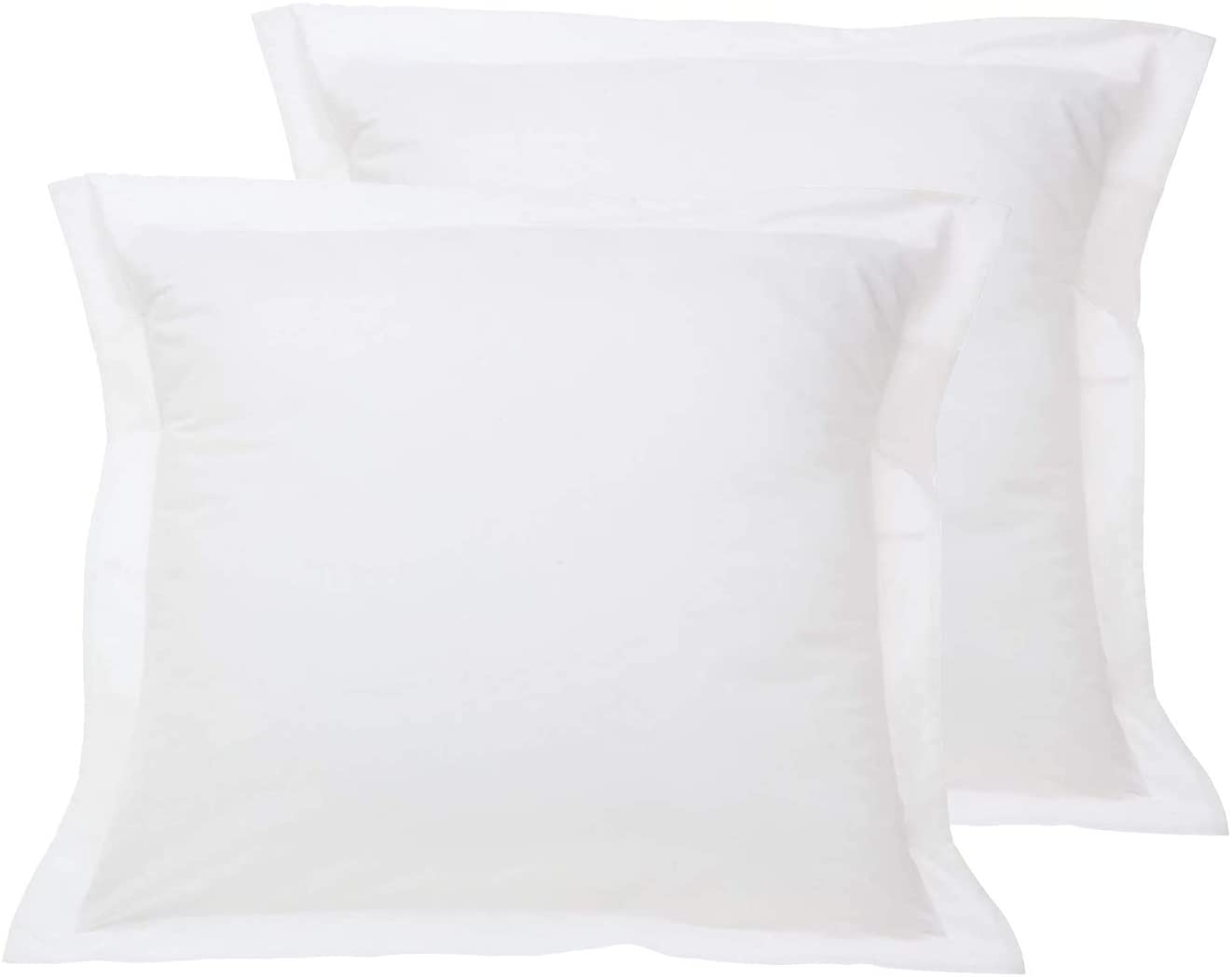 JBD LINEN Small Euro Sized 24 x 24 inch Pillow Shams Set of 2 Piece with Zipper Clouser, 800 Thread Count 100% Egyptian Cotton White Solid