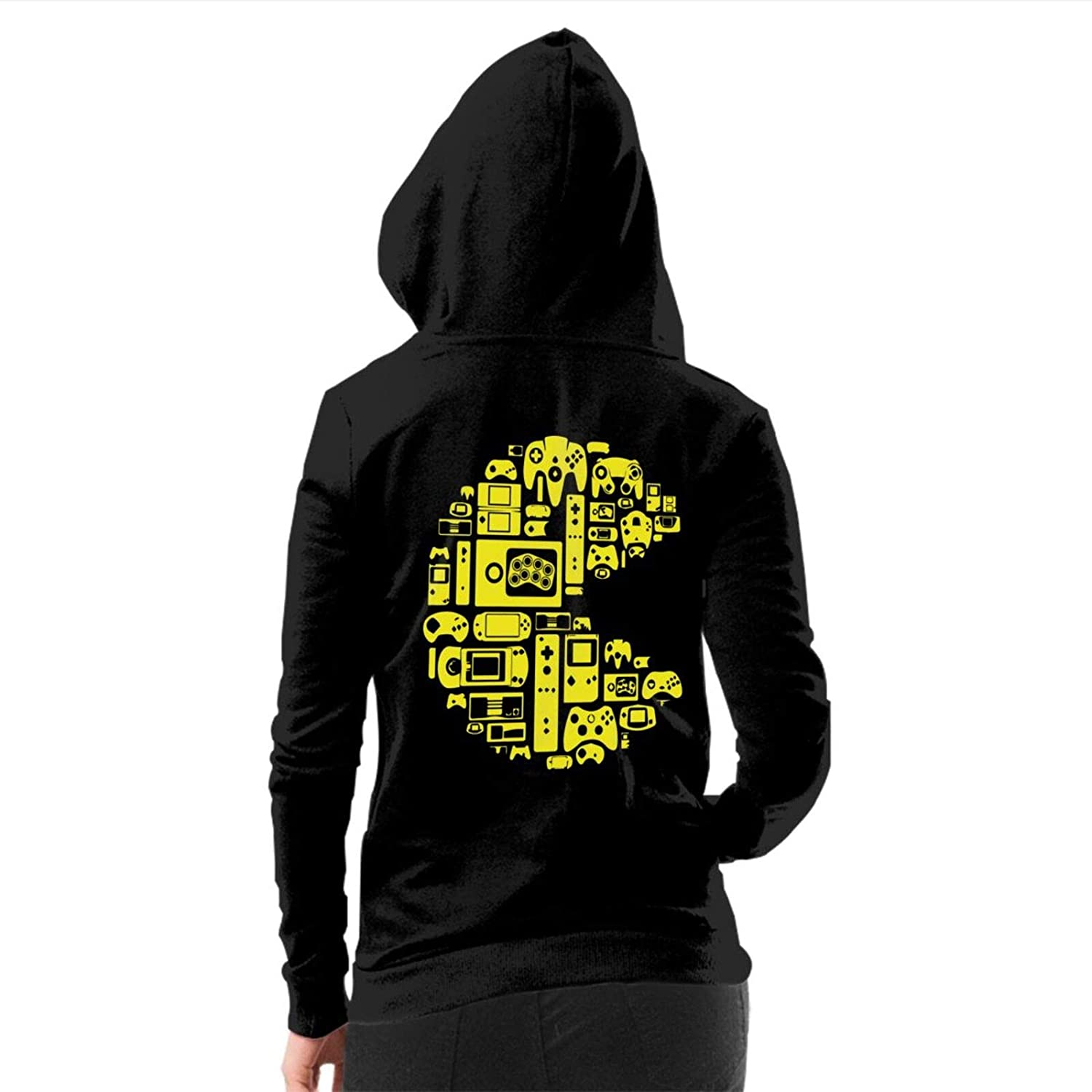Keceur Women's Hoodies Casual Hooded Sweatshirt Printed Long Sleeve Zip Up Jacket Outerwear Funny Coat with Pockets S-XL