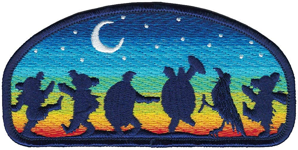 Grateful Dead Moondance Patch with Dancing Bears, Terrapins & a Crow - Iron On or Sew On
