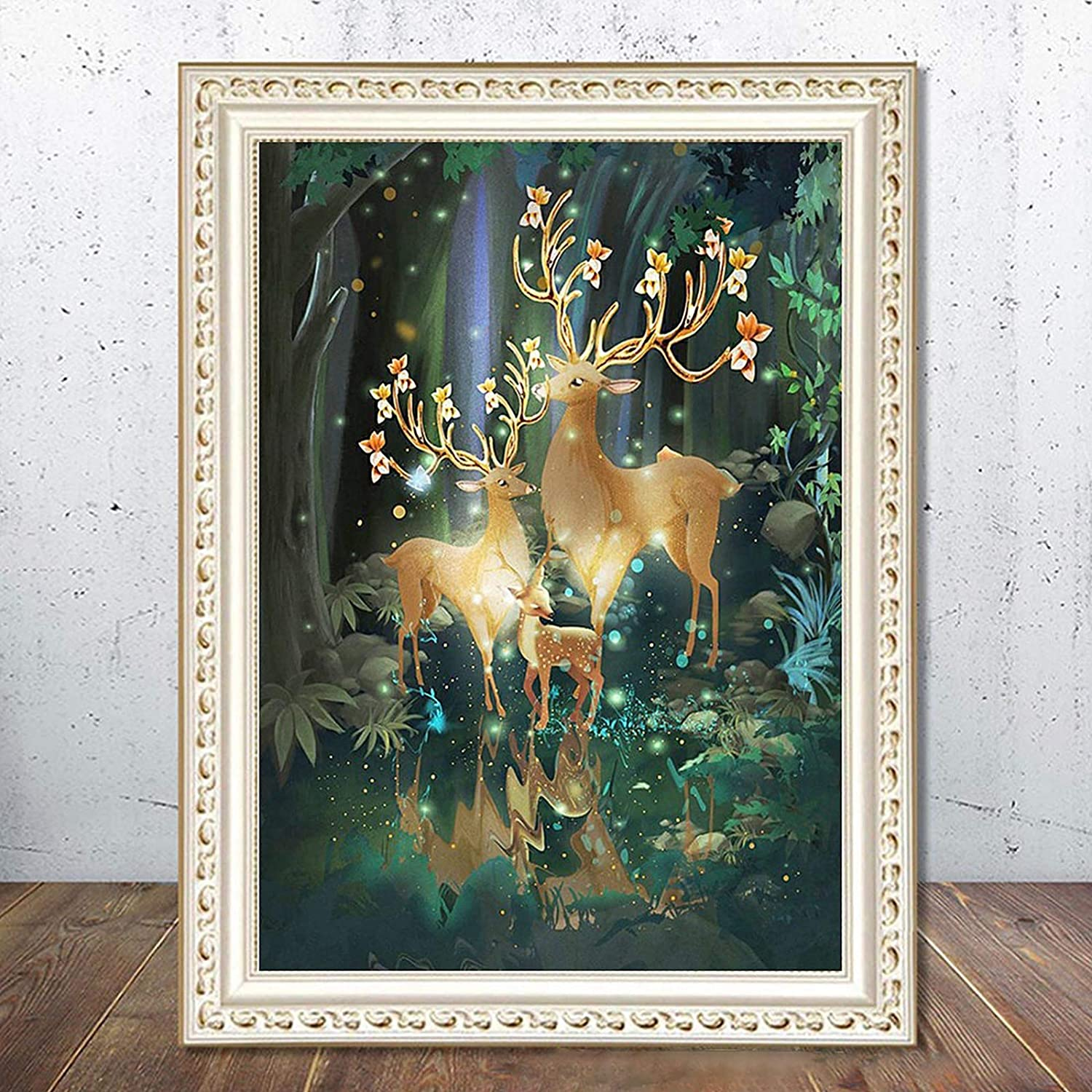 Christmas -5D Diamond Painting Kits for Adults Full Drill DIY Christmas Diamond Painting Art by Number Kits Rhinestone Embroidery Cross Stitch Crafts for Home Wall Decor Gift (Multicolor)