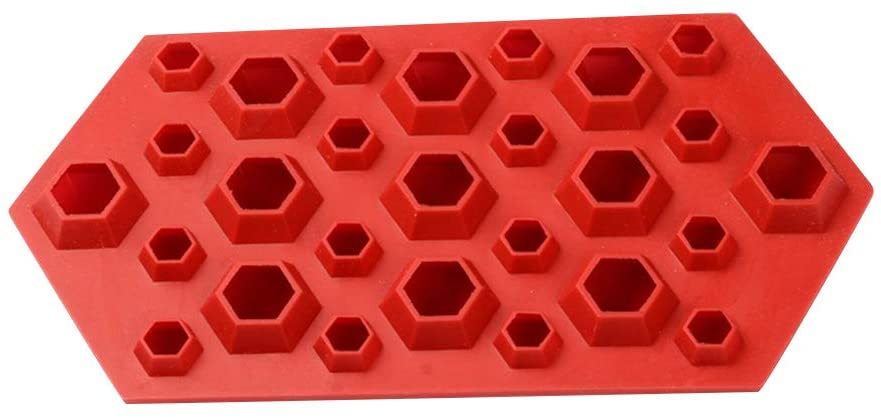 ARRICRAFT 1pc Diamond Shape Silicone Mold Color Random Delivery for Cake Decorating Crafting Polymer Clay Resin