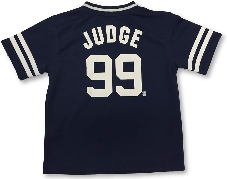 New York Yankees Boy's Youth Aaron Judge #99 V-Neck Baseball Jersey